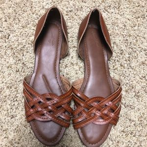 Dark brown Crossed Sandals